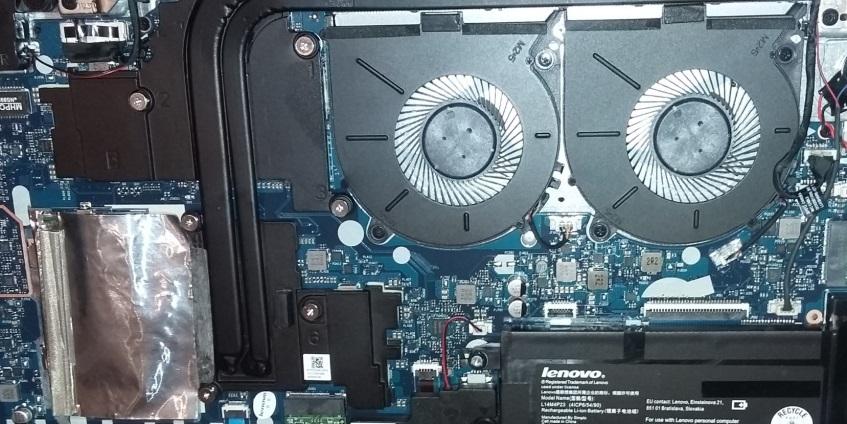 фото ноутбука с 2 кулерами